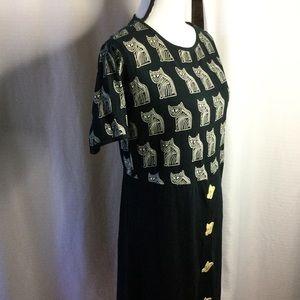 CAT DRESS little black cat dress made in India